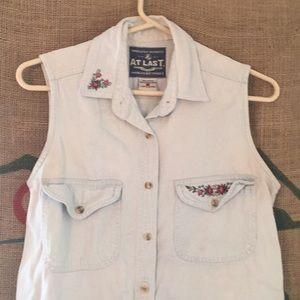 Jean floral blouse